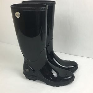 Ugg Tall Black Rainboots Sz 6